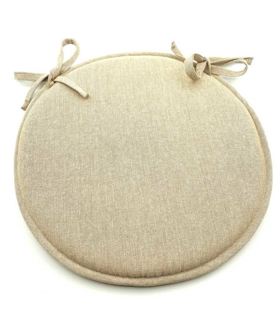 Galette de Chaise ronde Yuco Chambray Lin