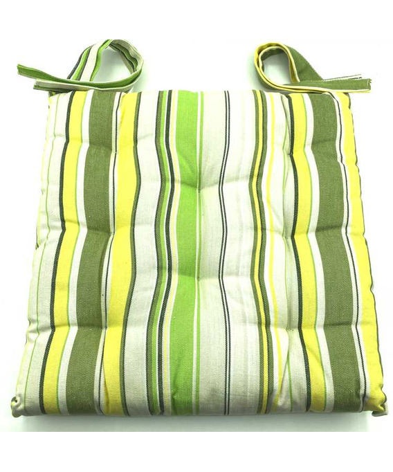 Lot de 6 Coussins de chaise Capitonné 38X38X5cm Biarritz Printemps