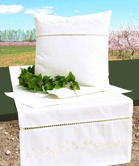 6 Sets de Table Coton Percale Ramatuelle Blanc