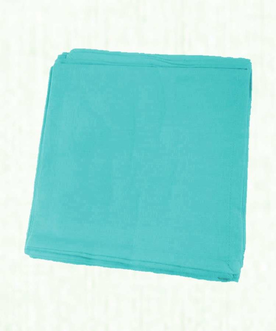 Lot de 6 Serviettes de Table Coton 45x45 cm Yuco Turquoise