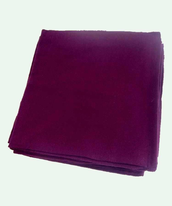 Lot de 6 Serviettes de table Coton 45x45 cm Yuco Cassis