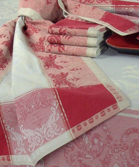 Serviettes de table Jacquard Verone Rubis