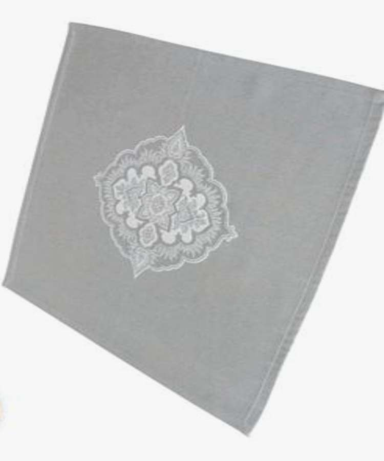Serviettes de Table Jacquard Bergame Taupe