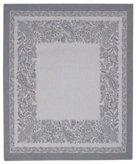 6 Serviettes de Table Jacquard Trento Cendre