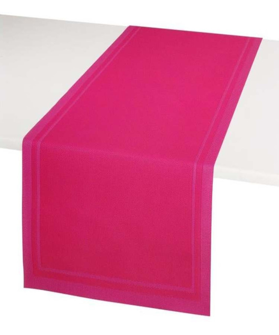 set de table plastifier antitache encadr 33x46 cm pvc yuco fuchsia