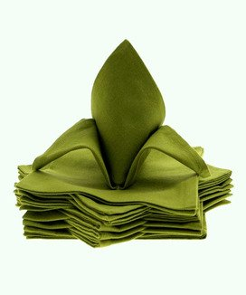 12 Serviettes de table Yuco Olive