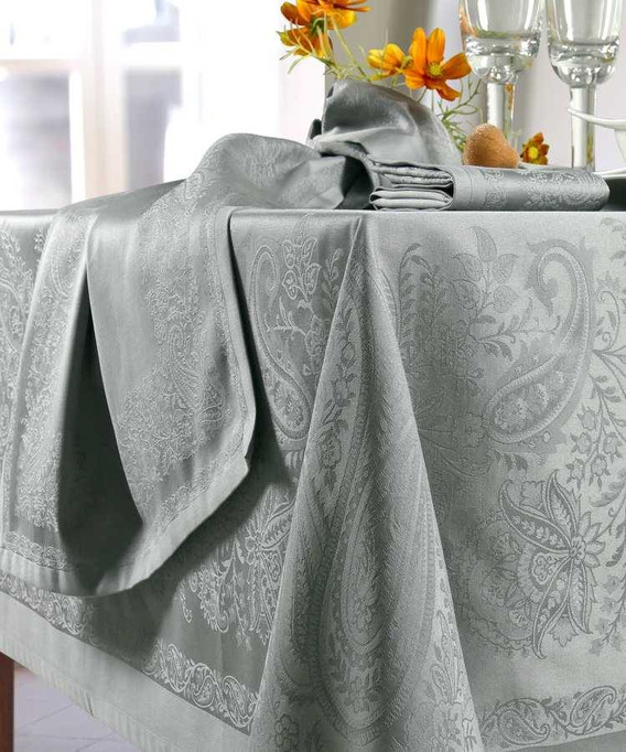 Nappe Rectangulaire Jacquard 168 x 300 cm Trento Taupe