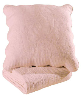 Couvre Lit Boutis Byzance Rose