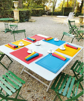 Serviettes de table Yuco Cranberry