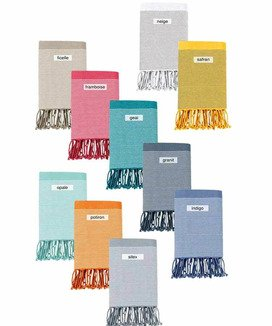 Fouta Nid d'abeille Collection Vent du Sud Geai