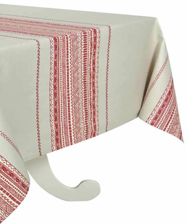 Nappe Rectangulaire antitache 160x200 cm Atlas Tomette