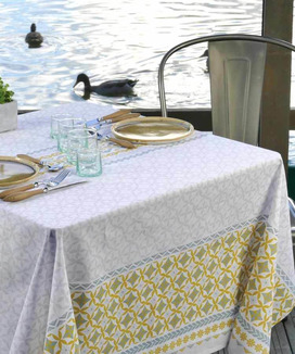 Nappe Enduite Carrée 160 cm Maréva Curry