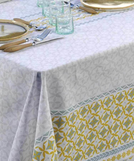 Nappe Rectangulaire Enduite 160x300 cm Maréva Curry