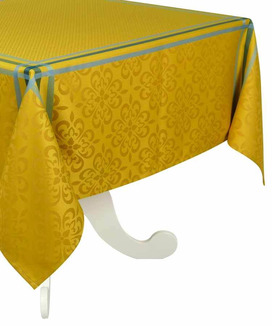 Nappe 150x200 cm Jacquard Polyester Enduite Bilbao Curry