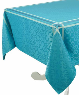 Nappe 150x200 cm Jacquard Polyester Enduite Bilbao Turquoise