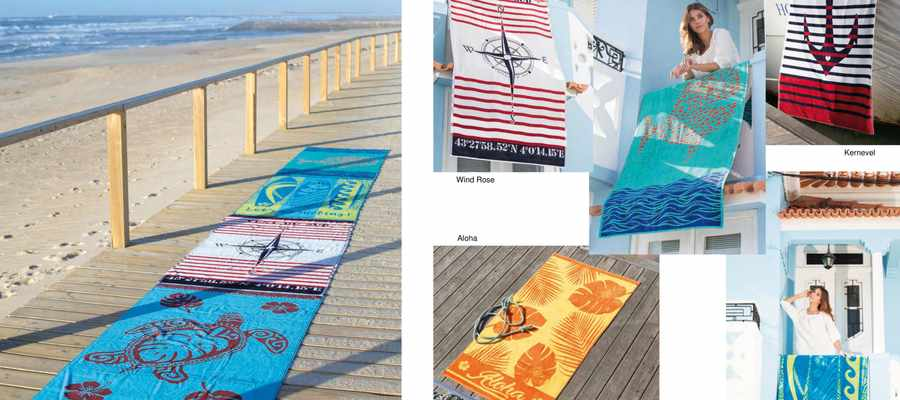 Drap de plage de coton collection vent du sud 2018