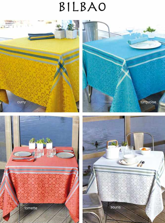 Collection Nappe Jacquard enduite Bibao