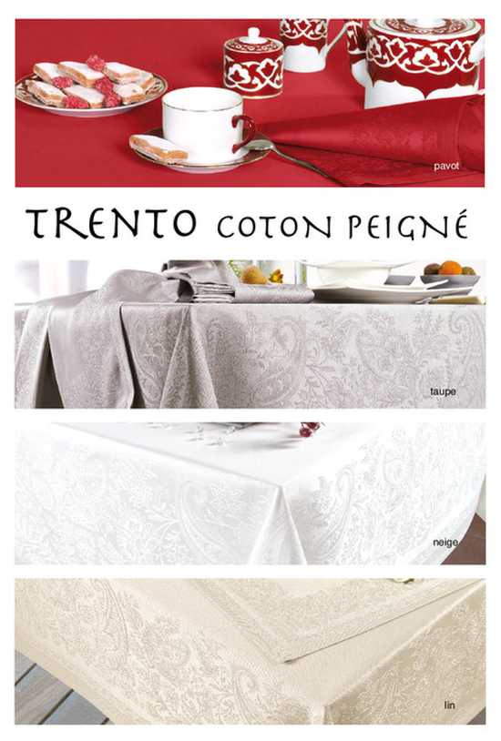 Collection Nappe Jacquard Grande Taille Trento