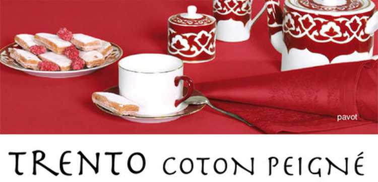 Collection Trento Pavot linge jacquard de table